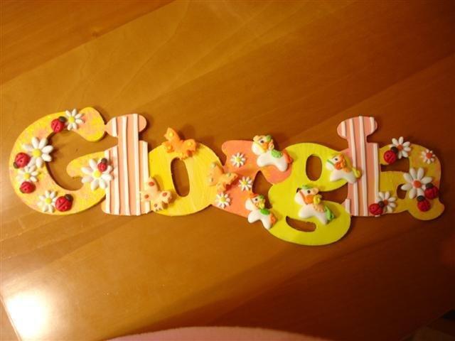 Nomi in legno per bambini