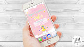 Magico Unicorno invito digitale, compleanno whatsapp, per Bambine tema unicorno, festa di compleanno unicorno, invito unicorno