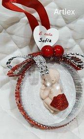 Sfera neonato  in tinta rossa
