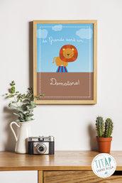 Domatore Poster stampabile per bambini, Regalo arredo cameretta, stampa per bambini, quadro cameretta stampabile, mestieri bambini