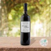Etichetta personalizzata per bottiglia di vino, regalo per gli invitati alle nozze, idea bomboniera