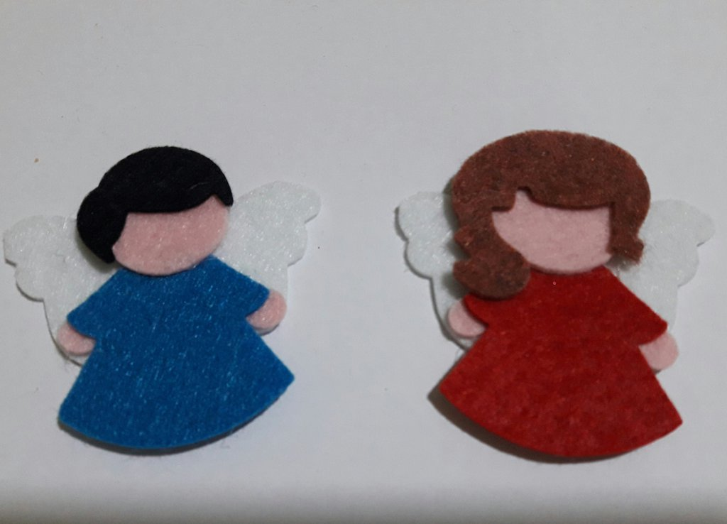 angeli fustellati in feltro