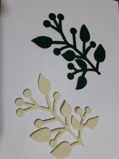 foglie fustellate in feltro