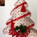 Alberello di Natale imbottito in pannolenci rosso e bianco