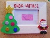 Portafoto in legno decorato tema Natale