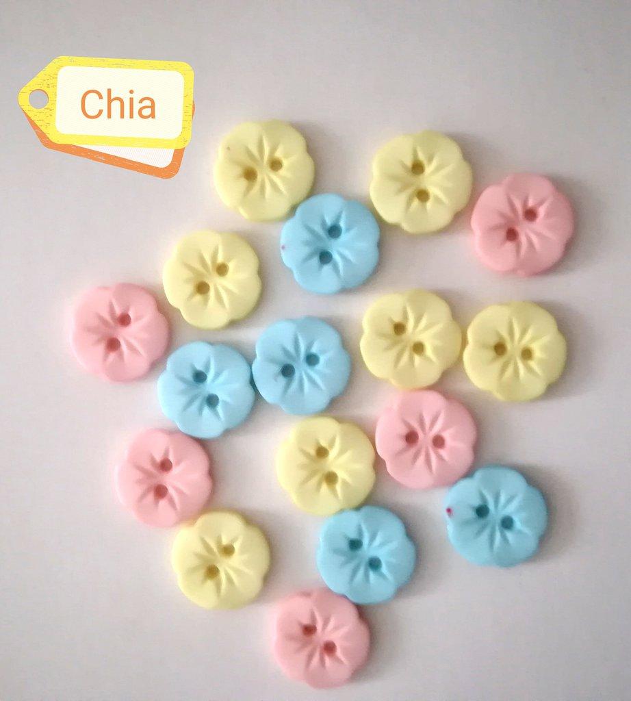 Offerta set 17 bottoni fiorellino