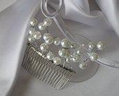 Pettine acconciatura sposa con perle