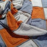 coperta in lana merino nuova fatta a mano crochet 2