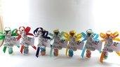Bomboniera topolino su provetta vetro con confetti smarties