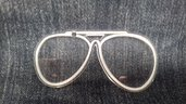 (367)  Ciondolo occhiali rayban in plexiglass trasparente