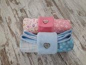 Copertina da borsa per neonati - Pezzi unici - Maschietto e femminuccia - Patchwork