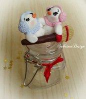 Portaspezie o caramelle con famiglia Pupazzi di neve Natale decorazione regalo utile Natale