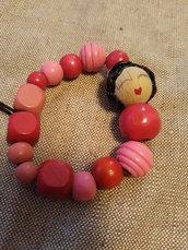 bracciali con perline legno
