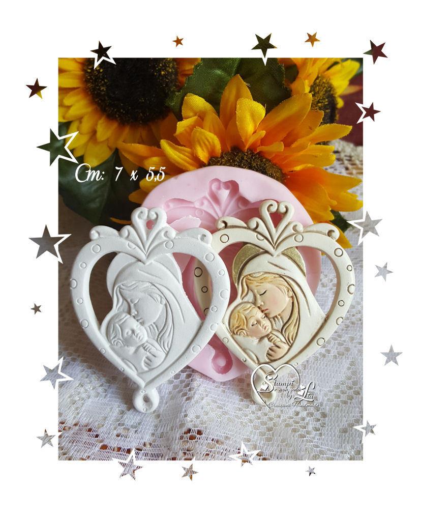 Stampo *Appendino cuore stilizzato Maternità*
