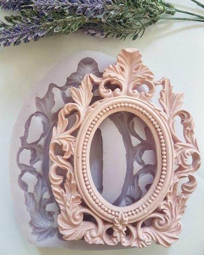Stampo cornice stile shabby barocco