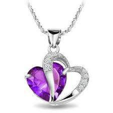 Catenina placcata in rodio, ciondolo con diamantino di contorno a forma di cuore