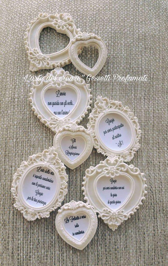 Segnaposto Matrimonio A Forma Di Cuore.Gessetti Profumati Cuore Cornice Cornici Segnaposto Matrimonio