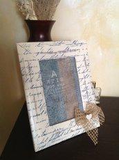 Cornice portafoto scritte blu