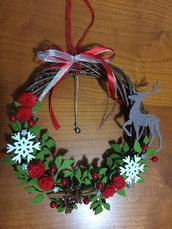 Ghirlanda Natalizia, decorazione natalizia, fuori porta, Natale