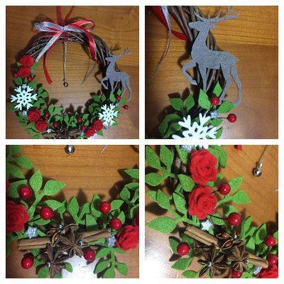 Ghirlanda natalizia decorazione natalizia fuori porta for Decorazione natalizia per porta