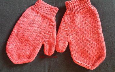 Guanti unisex rossi in lana merino super soft ai ferri