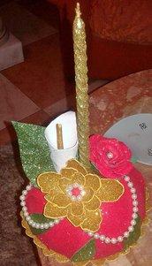 porta candela in fommy