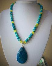 Collana con Diaspro e Opale Messicana, fatta a mano, 48 cm