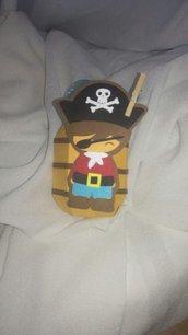 Scatolina nascita battesimo compleanno festa pirata potate barile