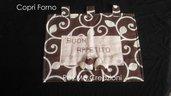 Copri Forno Artigianale Con Scritta Ricamata Buon Appetito Tutto a Mano Misura 45x35cm