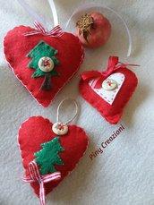 Cuoricini addobbi natalizi decorazioni albero e casa