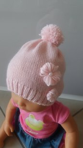 cappello bimba rosa