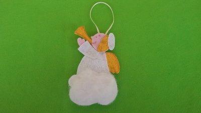 Angioletto, decorazione natalizia, h circa 12 cm - L circa 7 cm, idea regalo!