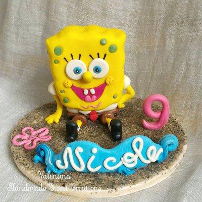 Cake topper spongebob