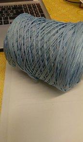 cordino thai effetto seta azzurro