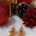 Orecchini natalizi - Omino Pan di Zenzero