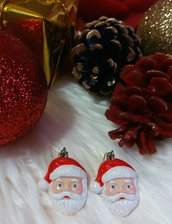 Orecchini natalizi - Babbo Natale