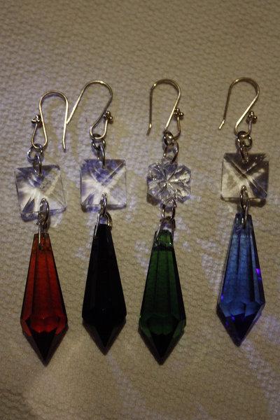 orecchini cristallo prisma