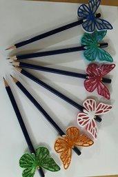 matite con farfalle