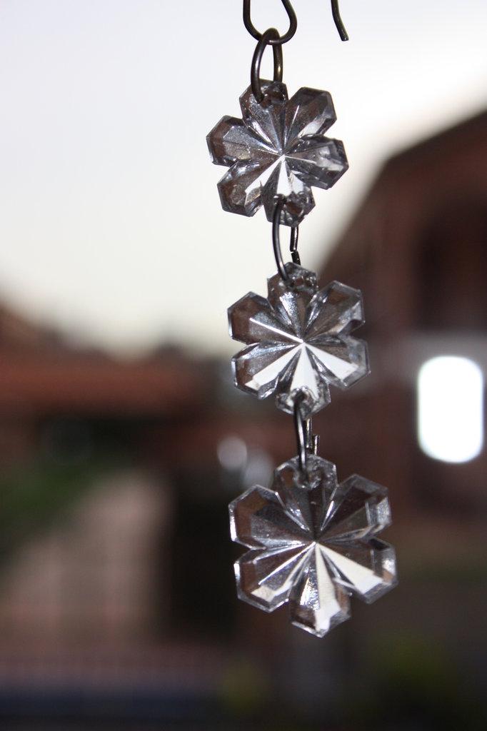 orecchini cristallo fiocchi di neve