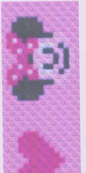 schema in pdf  SCIARPA minnie in C2C o bobble stitch