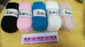 kit   SCIARPA minnie in C2C o bobble stitch con pdf