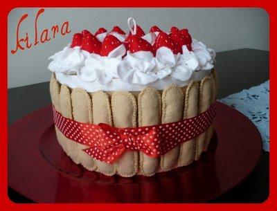 scatola torta di fragole