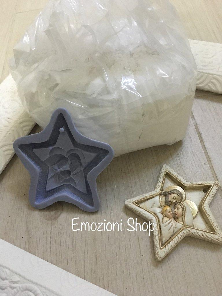 Kit creativo natalizio stampo+polvere di ceramica