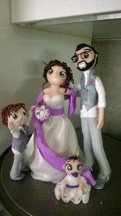 cake topper per matrimonio completamente personalizzabili 100% handmade
