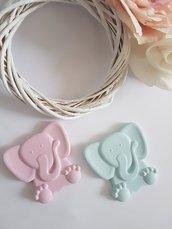 elefantino in gesso ceramico