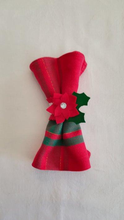 Portatovagliolo natalizio, circonferenza circa 14 cm L circa 4 cm