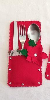Portaposate natalizio, h circa 23 cm L circa 11 cm