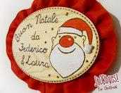 Targa Pirografata Babbo Natale