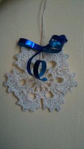 5 stelle di Natale in bianco ghiaccio e Brillantini