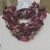 Collana lana  realizzata ad uncinetto